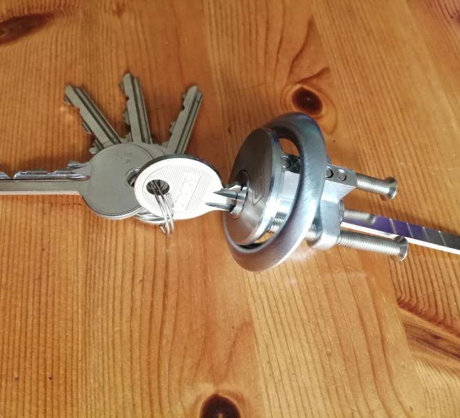 Keys in new lock
