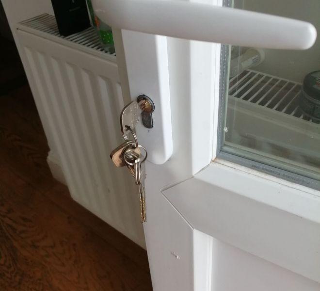 Keys in uPVC Door