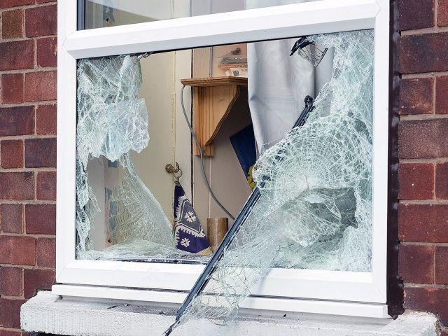Broken window in Portsmouth